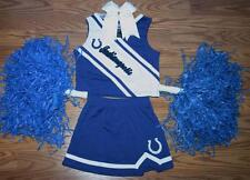 CHEERLEADER COSTUME OUTFIT INDIANAPOLIS COLTS POM POMS CHEER DELUXE BOW SET 2T