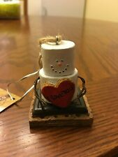 The Original S'mores New Smores Midwest Christmas Ornament Heart