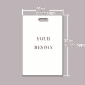 """Wholesale500pcs Customized Plastic Merchandise Bag 20*30cm/8*12"""" DesignYour Logo"""