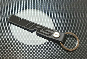 VRS Leather Keyring Keychain Octavia Fabia Superb VRS Karoq Kodiaq Rapid N BLACK