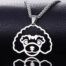 Stainless Steel Miniature Toy Poodle Caniche Pudelhund Pet Dog Pendant Necklace