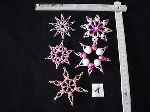 Weihnachtsstern 5 Perlensterne gold+silber+weiß+rose Weihnachten Deko Handarbeit