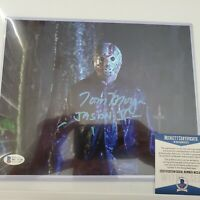 TOM MORGA signed 8x10 Photo Friday the 13th 5 Jason Voorhees BAS Beckett Witness