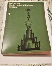 Storia dell'arte italiana volume 3 Claudio Giulio Argan - Sansoni