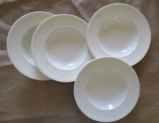 """Wedgwood ~ Windsor ~ Set of Four ~ Cream ~ 6"""" Coupe Cereal Bowls ~ Mint"""