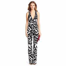 c9e938410b0 Diane von Furstenberg Dvf Zola Silk Jersey Halter Jumpsuit Black Flower  Ikat 4