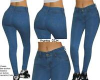 Original Levanta Cola Franka o234 push up med blue high waist skinny jeans-3-15