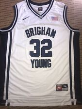 JIMMER FREDETTE BYU COUGARS BRIGHAM YOUNG WHITE JERSEY SIZE XL NICE!!