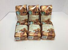 Starbucks Hazelnut Flavored Ground Coffee 11oz, July 2020 (Pack of 6)