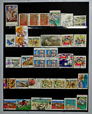 HIGH VALUE BAG OF DECIMAL STAMPS USED MIXTURE AUSTRALIA PAGE WORTH OFF PAPER