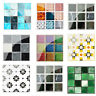 19pcs Mosaic Tile Wall Sticker PVC Waterproof Tiles Decals Kitchen Home Decor