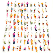 100 pcs/set Standing Pose Assorted HO Scale Model Train Street People Figures