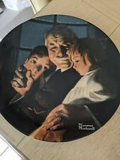 """New ListingNorman Rockwell Plate """"Bedtime Story"""" with certification"""