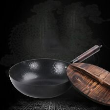 Chinese Traditional Iron Wok Handmade Large Carbon Steel Wok Non-stick Wok Gas