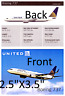 United Airlines Boeing 737 Information Card