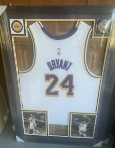 Kobe Bryant Framed autographed signed Lakers jersey COA
