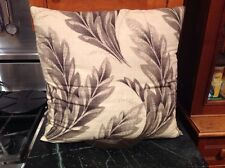 Ralph Lauren Blue Label 20 X 20 Large Linen Beige Leaf Print Pillow EUC $125