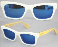 Miu Miu Damen Sonnenbrille  VMU08M 7S3-1O1 52mm verspiegelt weiß 32A  32