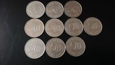 50sen--1967,68--1lots--10pcs--high grade