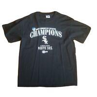Chicago White Sox 2005 World Series Champions Black T-Shirt - Size Large Bin16