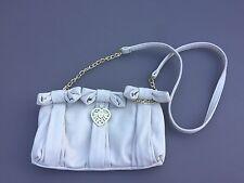 Suzy Smith Ladies Grab Shoulder Bag Purse Heart Gold Chain Detail Ivory Cream