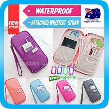Travel Wallet Passport Holder Card Pouch Bag phone Case Wristlet Strap+Tag