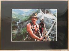 A4 Framed Canvas Art Print Harrison Ford Indiana Jones Film Clip NEW