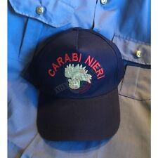 Berretto Cappello Baseball Cap logo Ricamato Carabinieri Fiamma Argento