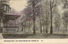 Hammond Indiana IN Hohman Street East Toward Harrison Park Postcard #m393