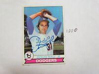 1979 Topps Doug Rau Autographed Signed Baseball Card
