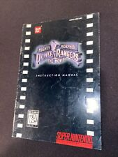 mighty morphin power rangers the movie snes Manual