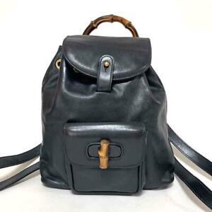 Gucci Bamboo Backpack 003 1705 0080 Navy gb1627
