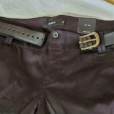 Torrid Black Cuffed Shorts with Belt Size 16 NWT