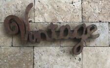 Vintage Welded Metal Sign