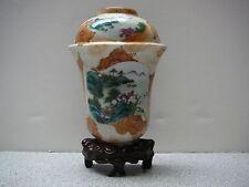 Important Chinese porcelain famille rose wall pocket imitating stone glaze 18thC