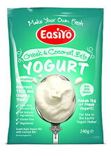 Easiyo Greek N Coconut Yogurt Mix (Add any other sachet for ONLY 25p* Extra P&P)