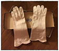 Ogilvy's Vintage White Women's Evening Gloves, Made in Germany