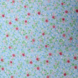 "100% Premium Quality DIY Fabric Polycotton Spring Floral 2 Way Stretch 44"" Wide"
