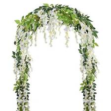 2x2M Artificial Wisteria Vine Flower Garland Plants Foliage Outdoor Trailing New