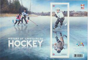 Canada 2017 Souvenir Sheet #3039 History of Hockey - MNH