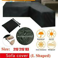 Waterproof Rattan Corner Furniture Cover Garden Outdoor Sofa Protect L Shape
