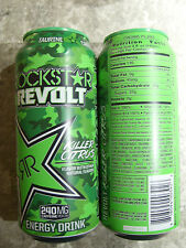 Energy drink, Rockstar, (1 full can) Revolt, 16 Oz, ee. UU.
