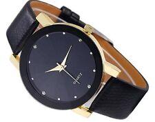 Damenuhr Armbanduhr Strass Kristall Gold Silber Schwarz Leder Geneva Trend Quarz