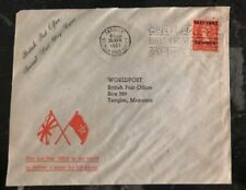 1957 Tanger Morocco British Post Office Last Day Cover LDC Domestic Used