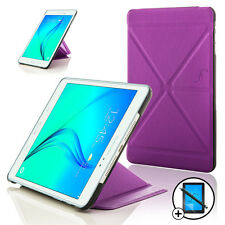 Purple Origami Smart Case Cover Samsung Galaxy Tab A 8.0 Screen Prot Stylus Pen