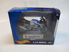 HOT WHEELS 47110 SUZUKI GSX-R 1:18 MOTO METAL COLLECTION TIED IN BOX 2004 *rare*