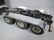 Aluminum Rear Tri Axle Fender +Mount Tamiya RC 1/14 King Grand Knight Hauler Man