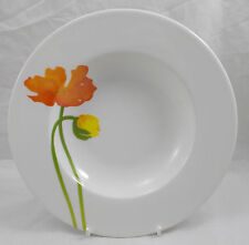 Villeroy & and Boch GALLO - ICELAND POPPIES rimmed soup / dessert bowl 24cm NEW