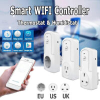 Temperature Humidity WiFi Thermostat Module Timer Smart Power Outlet Socket