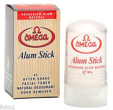 Omega Alum Stick After Shave Facial Toner Deodorant natural potassium alum